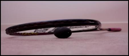 raquette squash   balle